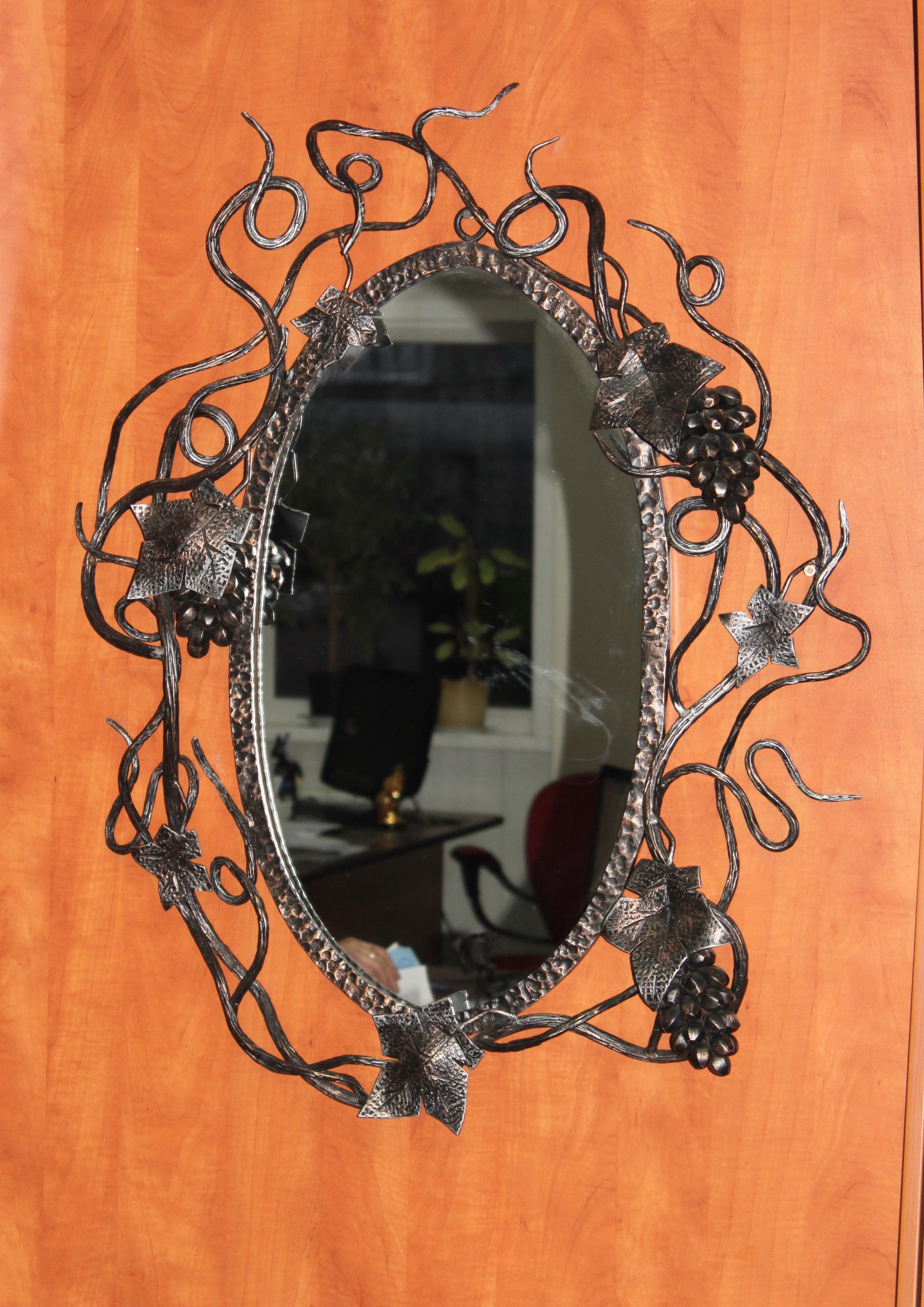 Зеркало в кованой раме своими руками 37